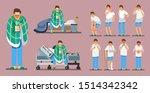 sick man set  vector... | Shutterstock .eps vector #1514342342