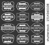 memphis tennessee skyline.... | Shutterstock .eps vector #1514360108