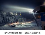 Ski Lifts  Gondolas  At Night