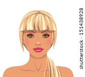 portrait of a blonde woman   Shutterstock .eps vector #151438928