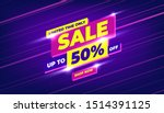 sale banner template design ... | Shutterstock .eps vector #1514391125