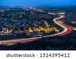 twilight view of commuter... | Shutterstock . vector #1514395412