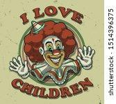 clown illustration tee shirt... | Shutterstock .eps vector #1514396375