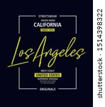 typography graphic  los angeles ... | Shutterstock .eps vector #1514398322