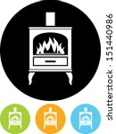 Oven stove vector icon