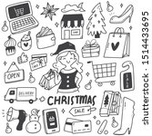set of christmas sale doodles | Shutterstock .eps vector #1514433695