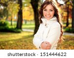 Beautiful Young Woman In Autum...