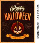 happy halloween poster. vector... | Shutterstock .eps vector #151446725