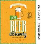 vintage beer brewery poster....   Shutterstock .eps vector #151446755