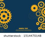abstract techno gear background ... | Shutterstock .eps vector #1514470148