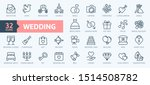 wedding   thin line web icon... | Shutterstock .eps vector #1514508782