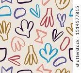 super cute seamless texture...   Shutterstock .eps vector #1514577815
