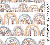 textile print with raibow.... | Shutterstock . vector #1514617295