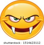 evil emoji emoticon with fangs | Shutterstock .eps vector #1514623112