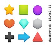 colorful isometric shapes pack... | Shutterstock .eps vector #151463486