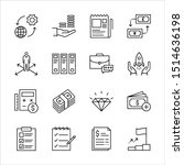 set vector line icons in...