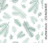 fir branches seamless pattern.... | Shutterstock .eps vector #1514636405