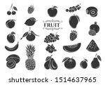 fruit glyph icons set.... | Shutterstock .eps vector #1514637965