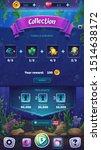 mahjong fish world   vector... | Shutterstock .eps vector #1514638172
