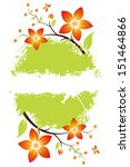 grunge flower background with... | Shutterstock . vector #151464866