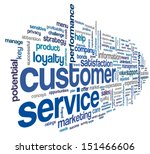 customer service concept in... | Shutterstock . vector #151466606