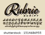 a calligraphic script font ... | Shutterstock .eps vector #1514686955