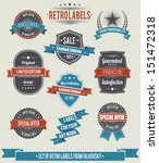 set of vintage retro labels and ...   Shutterstock .eps vector #151472318