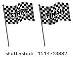 set of racing flag  finish and... | Shutterstock .eps vector #1514723882