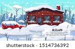 winter season blizzard warning. ... | Shutterstock .eps vector #1514736392