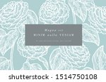 vintage card with camelia... | Shutterstock .eps vector #1514750108
