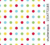 Bright Primary Color Polka Dot...