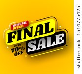 black and yellow final sale... | Shutterstock .eps vector #1514775425