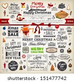 christmas decoration collection ... | Shutterstock .eps vector #151477742
