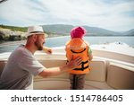 Father And Daughter On Boat....