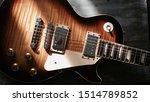 Electric Guitar Body Closeup On ...