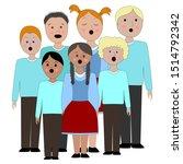 children's choir . lesson of... | Shutterstock .eps vector #1514792342
