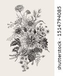 autumn flowers. classic flower... | Shutterstock .eps vector #1514794085