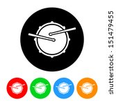 snare drum icon vector with... | Shutterstock .eps vector #151479455