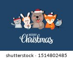 merry christmas greeting card... | Shutterstock .eps vector #1514802485