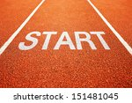 start on athletics all weather... | Shutterstock . vector #151481045