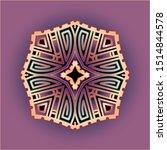 simple mandala art ornament for ... | Shutterstock .eps vector #1514844578