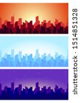 wide horizontal cityscape at... | Shutterstock .eps vector #1514851328