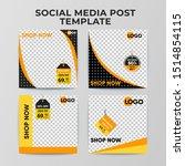 sale social media post template ... | Shutterstock .eps vector #1514854115