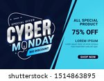 cyber monday sale banner... | Shutterstock .eps vector #1514863895