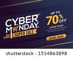 cyber monday sale banner...   Shutterstock .eps vector #1514863898