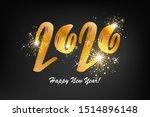 happy new 2020 year. vector... | Shutterstock .eps vector #1514896148