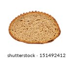 Slice of brown bread. - stock photo