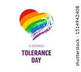 tolerance day logo. bright hand ...   Shutterstock .eps vector #1514942408