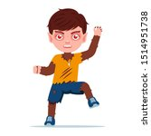 werewolf boy with claws with... | Shutterstock .eps vector #1514951738
