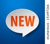 new 3d speech bubble on blue... | Shutterstock .eps vector #151497266